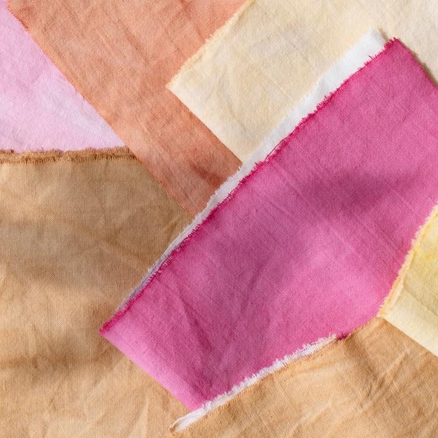 Packung mit natürlichen pigmenten gefärbte tücher Kostenlose Fotos