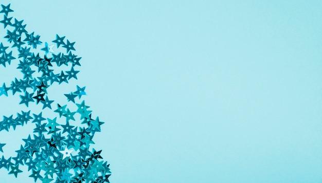 Pailletten des blauen sternes mit kopienraum Kostenlose Fotos