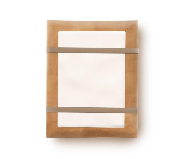 Paketbeutel mit dem unbelegten kennsatz getrennt. Premium Fotos
