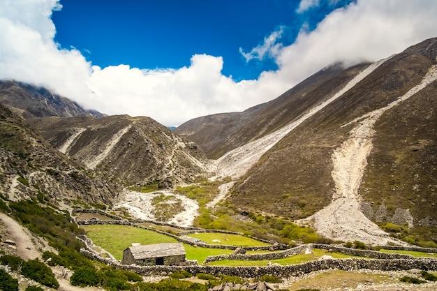 Panorama berglandschaft Premium Fotos