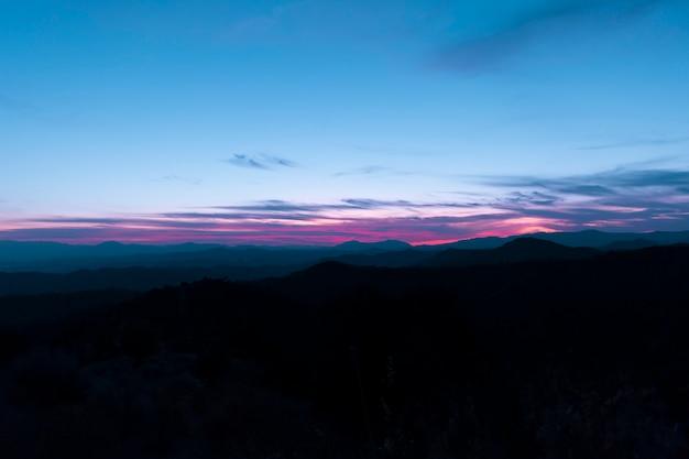 Panorama eines kristallklaren himmels Kostenlose Fotos