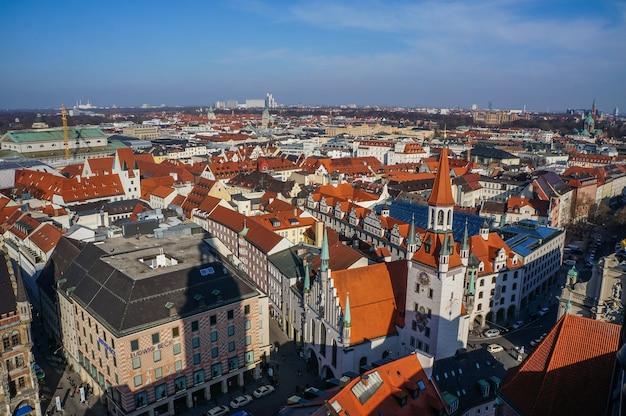 Panoramablick auf die münchner innenstadt. deutschland Premium Fotos