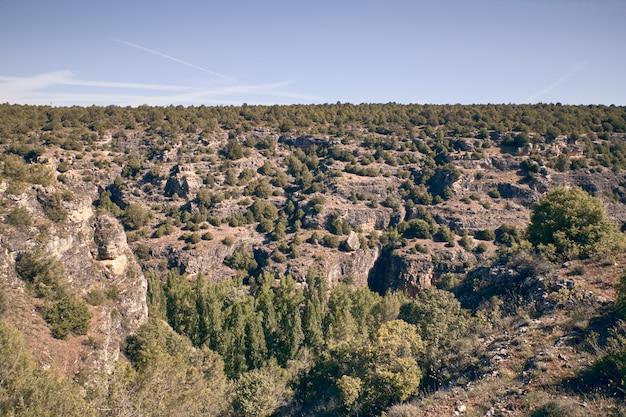 Panoramablick auf die sicheln des duraton Premium Fotos