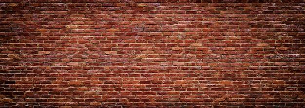 Panoramablick der maurerarbeit, backsteinmauer als hintergrund Premium Fotos