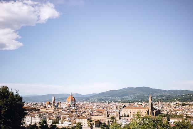 Panoramablick über die stadt florenz Premium Fotos