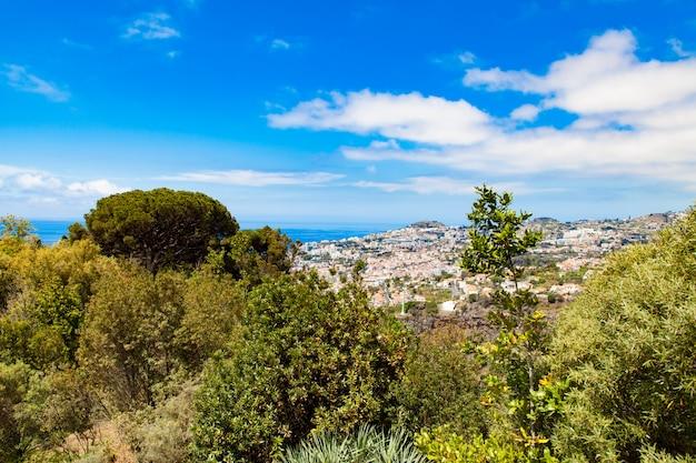 Panoramablick über funchal auf madeira Premium Fotos