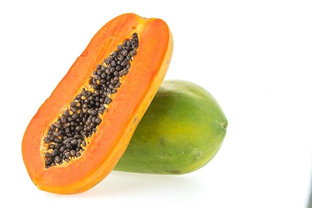 Papaya obst isoliert Kostenlose Fotos