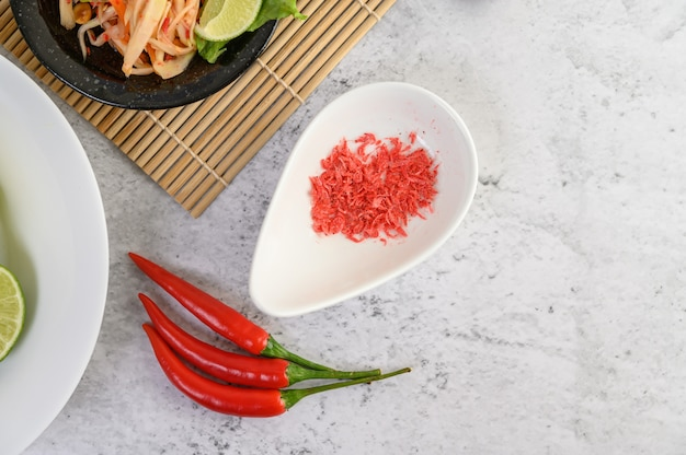 Papayasalat mit chilischoten Kostenlose Fotos