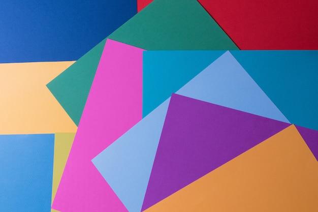 Papierhintergrund der kreativen pastellfarben, ansicht von oben, fahne. Premium Fotos