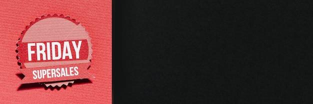 Papierkomposition mit black friday angebot Kostenlose Fotos