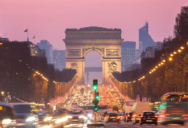 Pariser triumphbogen Premium Fotos
