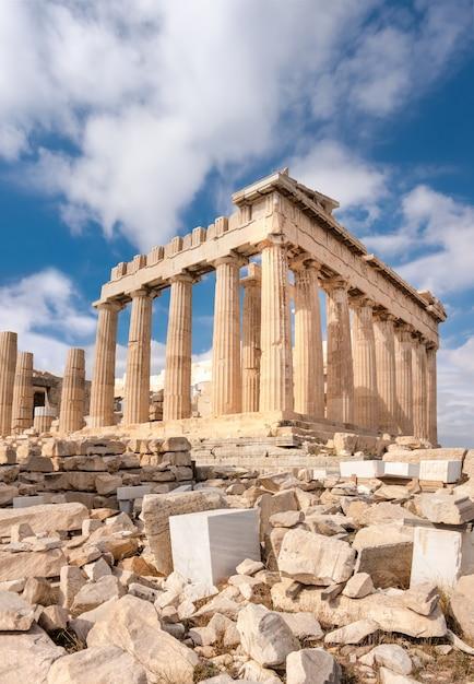 Parthenon auf der akropolis in athen, griechenland Premium Fotos