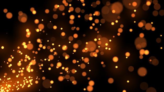 Partikel funken punkte glitzern zeitlupenhintergrund 3d illustration isoliert Premium Fotos