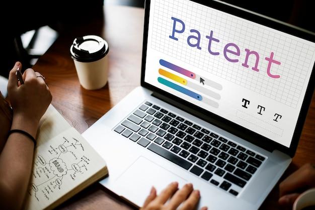 Patent ist eine produktidentität für den rechtsschutz Premium Fotos