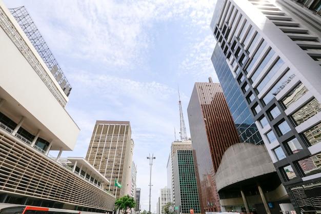 Paulista avenue, sao paulo, brasilien Premium Fotos