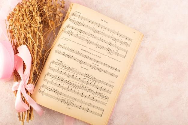 Peganum harmala pflanze zusammen mit notiz copybook auf der rosa tischpflanze farbfoto musik Kostenlose Fotos
