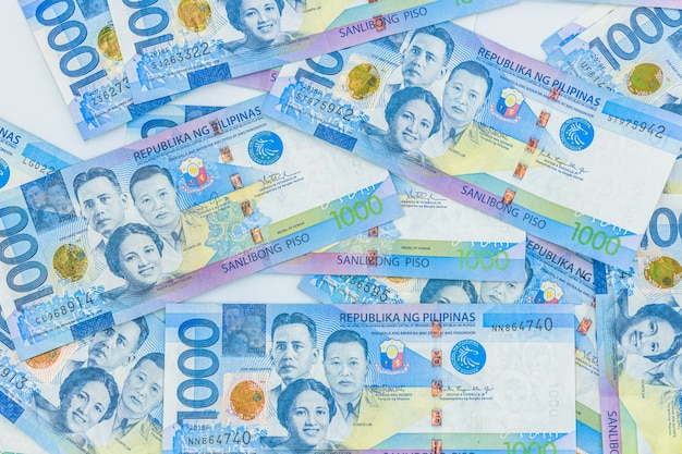 Philippinische 1000-peso-rechnung, philippinen-geldwährung, philippinische geldscheine. Premium Fotos