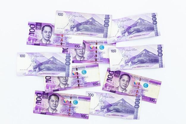 Philippinische geldwährung Premium Fotos