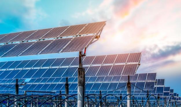 Photovoltaikmodule für erneuerbare energien Premium Fotos
