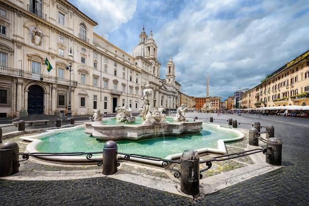 Piazza navona, rom, italien Premium Fotos