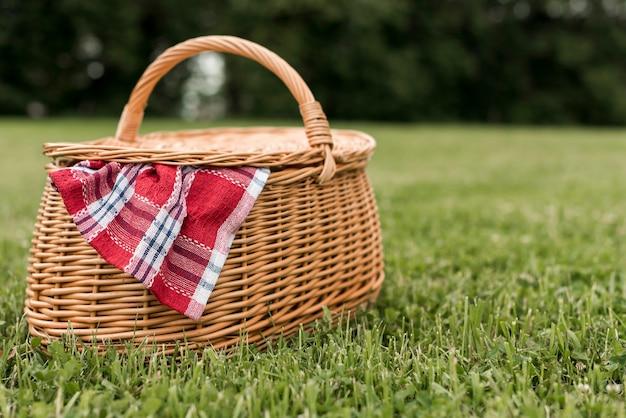 Picknickkorb auf parkgras Kostenlose Fotos