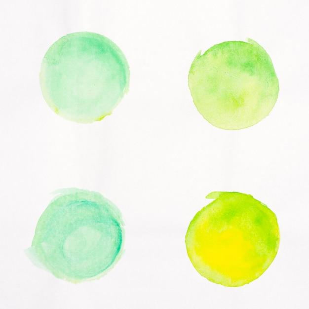 Pinsel punkte aquarell gemalte sammlung Kostenlose Fotos
