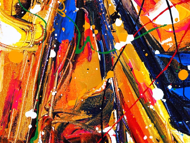 Pinselanschlag-spritzentropfen der ölfarbe abstrakter hintergrund und beschaffenheit des bunten süßen farb. Premium Fotos