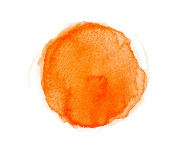 Pinselfarbe orange aquarell. Premium Fotos