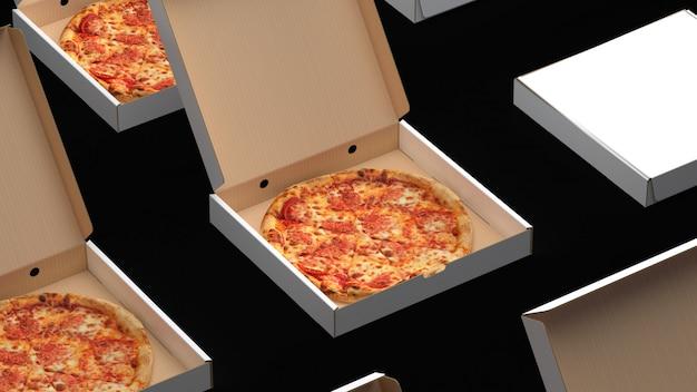 Pizza in kisten Premium Fotos
