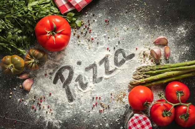 Pizza zutaten Premium Fotos