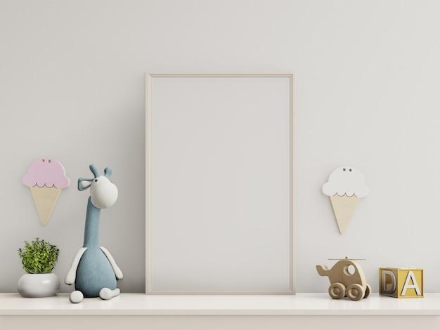 Plakate im innenraum des kinderzimmers. Premium Fotos