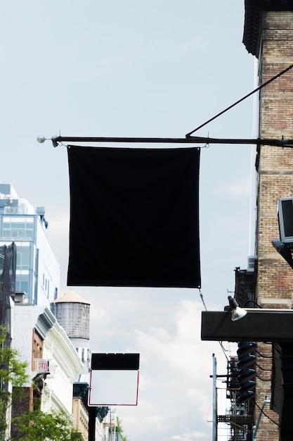 Plakatschablone in der städtischen umwelt Kostenlose Fotos