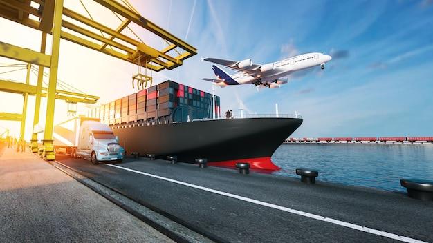 Plane trucks fliegen Premium Fotos