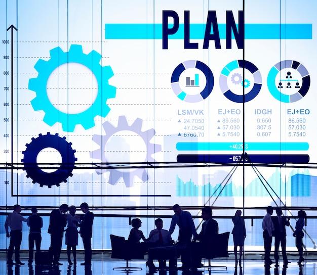 Planen sie planungsrichtlinien process solution concept Kostenlose Fotos