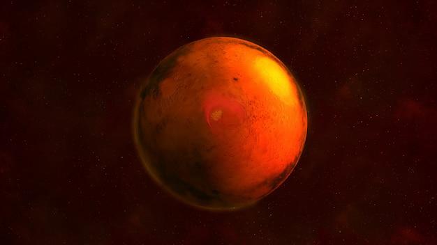 Planet mars auf schwarz Premium Fotos
