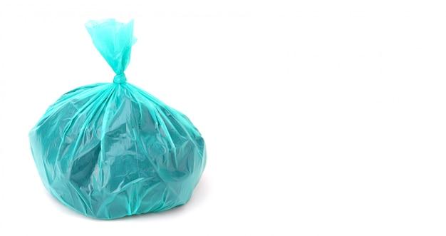 Plastiktüte lokalisiert auf einem weißen hintergrund Premium Fotos