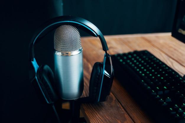 Podcast studiomikrofon Premium Fotos