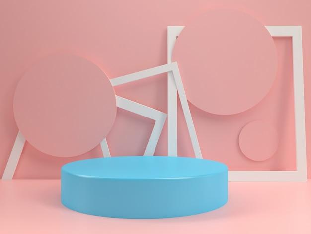 Podium pastell modell vorlage sommer stil minimal Premium Fotos