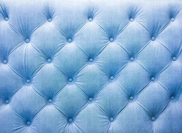Polster sofa stoff mit nieten. blauton. Premium Fotos