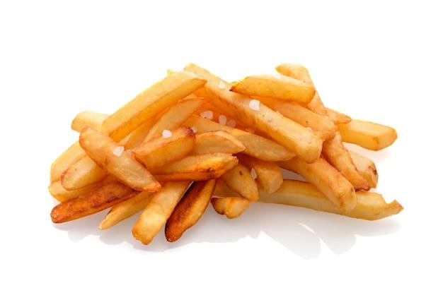 Pommes frites lokalisiert auf weißem hintergrund Premium Fotos