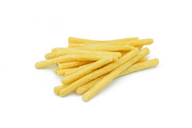 Pommes-frites lokalisiert auf weißem hintergrund Premium Fotos