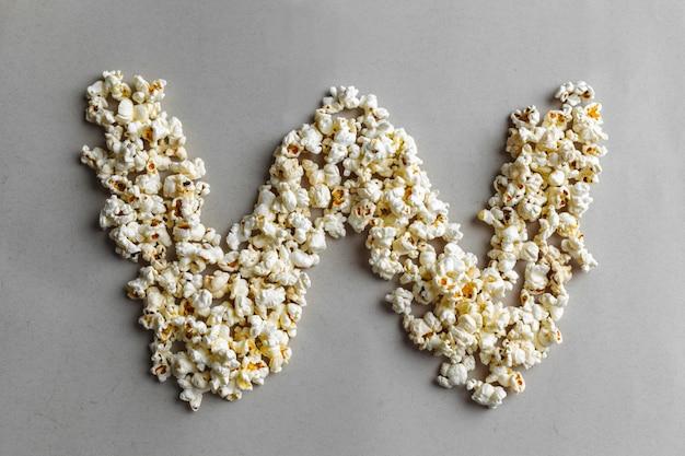 Popcorn alphabet, isoliert Premium Fotos