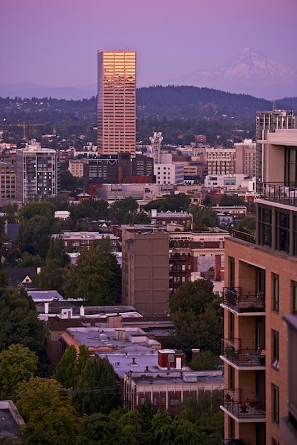 Portland und mount hood Kostenlose Fotos