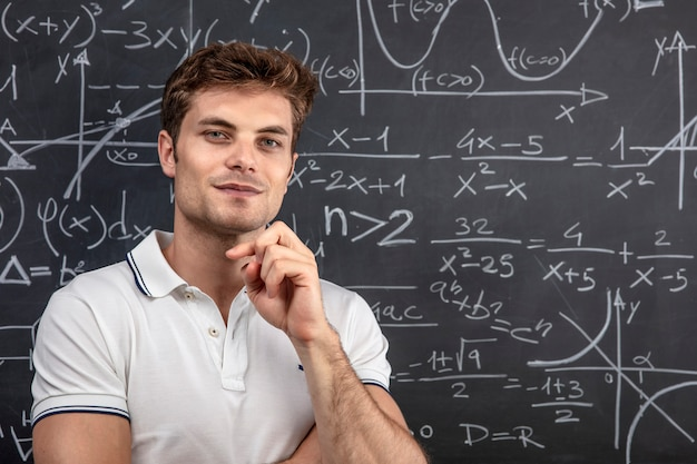 Porträt eines jungen lehrers Premium Fotos