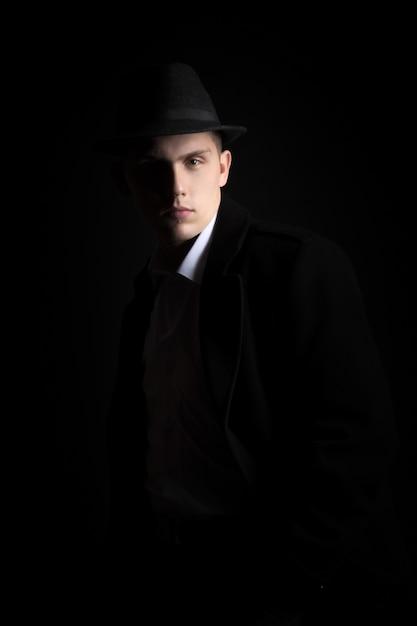 Porträt von gut aussehenden kerl, vintage mode Kostenlose Fotos