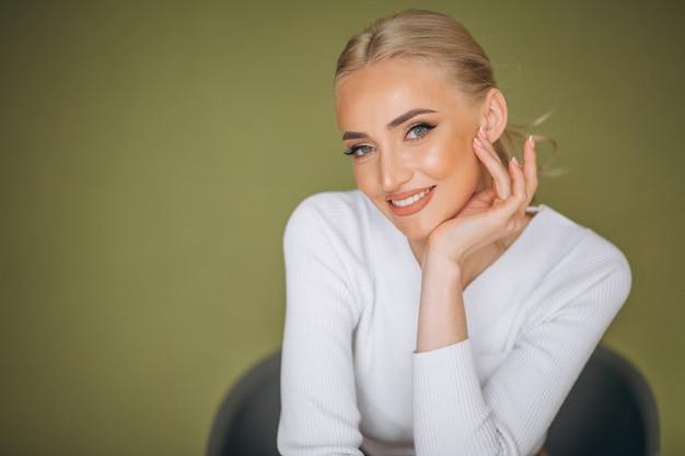 Portrait der frauenhautpflege Kostenlose Fotos