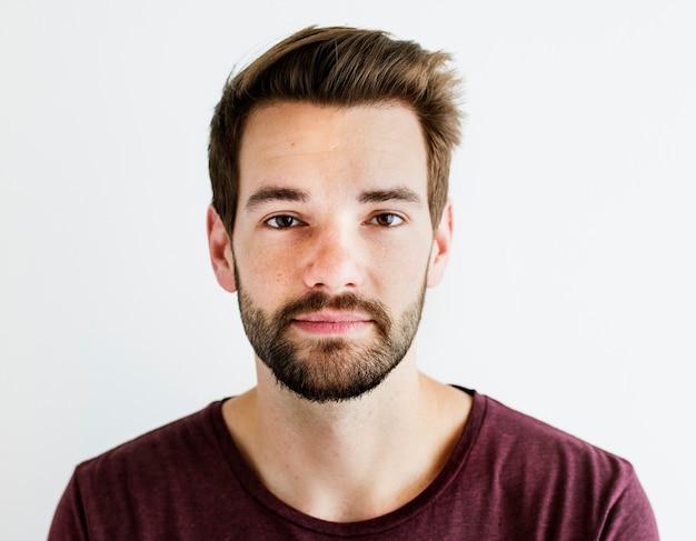 Portrait des weißen mannes getrennt Kostenlose Fotos
