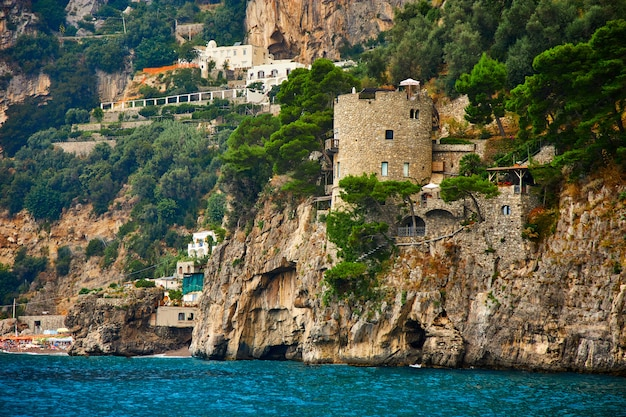 Positano, amalfiküste, kampanien, italien. schöne aussicht Premium Fotos