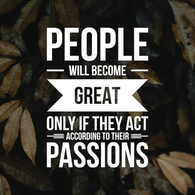 Positives zitat für inspiration und motivation im leben. stärken sie ihren geist für großartiges denken. Premium Fotos