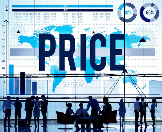 Preis-kosten-waren-geld-produkt-einkaufskonzept Kostenlose Fotos